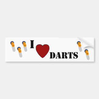 I Heart Darts Bumper Sticker