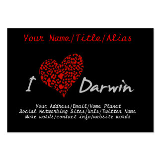 I Heart Darwin Large Business Cards (Pack Of 100)