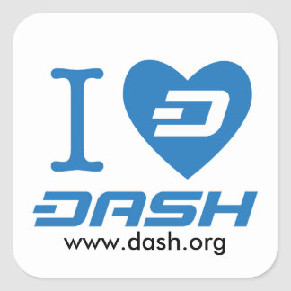 I Heart Dash 2 Square Sticker