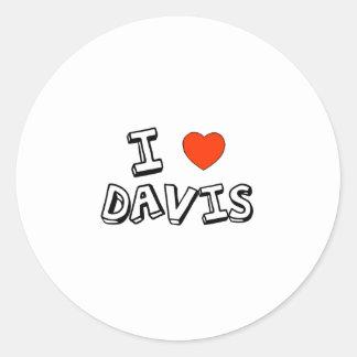 I Heart Davis Round Sticker