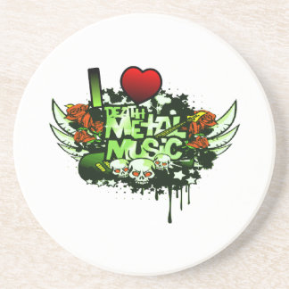 I Heart Death Metal Coaster