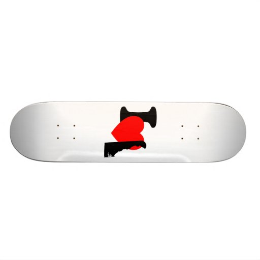 I Heart Delaware Skateboard Deck