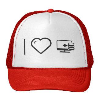 I Heart Desktop Files Trucker Hat