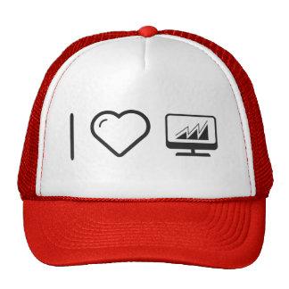 I Heart Desktop Graphics Trucker Hat