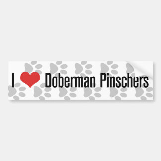 I (heart) Doberman Pinschers Bumper Sticker