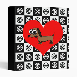 I Heart Dogs - Black ,Red, White Binder