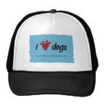 I Heart Dogs Mesh Hats