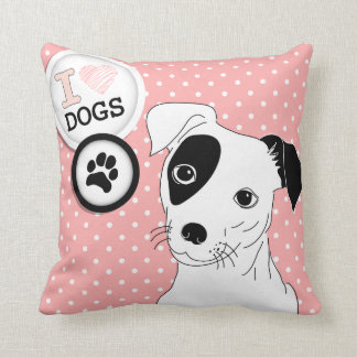 I Heart Dogs Pillow