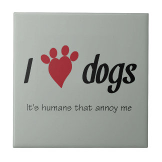 I Heart Dogs Tile