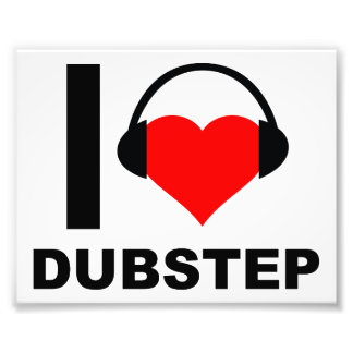 I Heart Dubstep Funny Poster Photo Print
