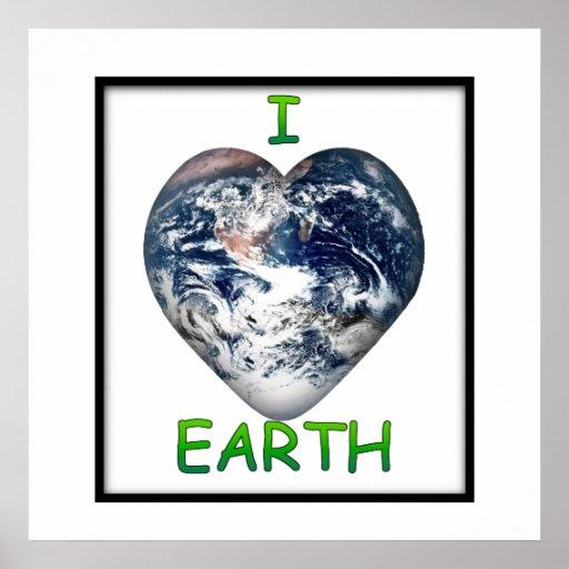 I Heart Earth (I ♥ Earth) Poster