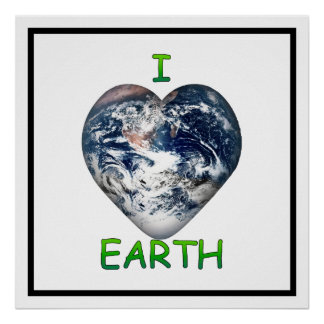 I Heart Earth (I ♥ Earth) Print
