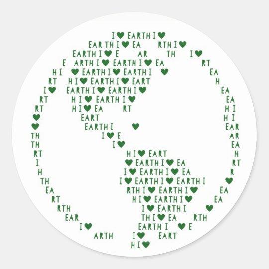 I Heart Earth Sticker