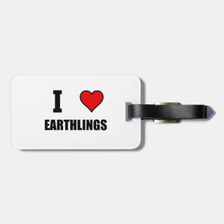 I Heart Earthlings Luggage Tag