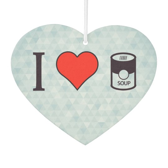 I Heart Eating A Soup In Can Air Freshener
