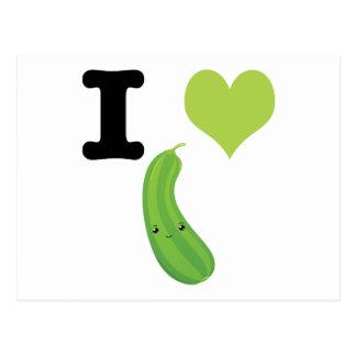 I Heart Eggplant Postcard