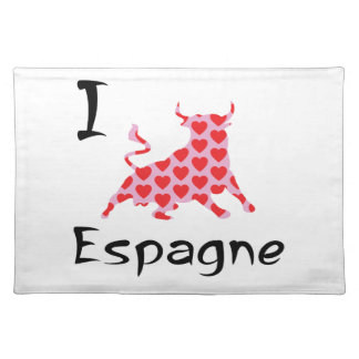 I heart Espagne Placemat