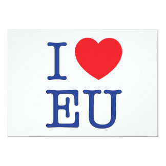 I Heart EU Postage Envelope Card