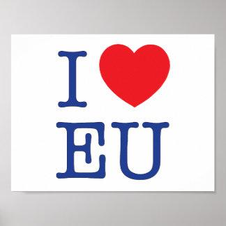 """""""I Heart EU"""" Poster"""