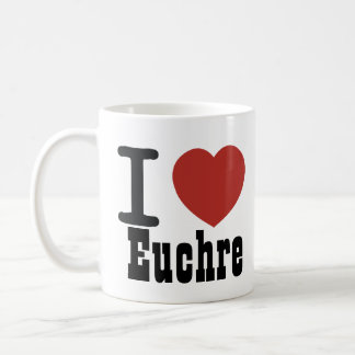 I Heart Euchre Coffee Mug