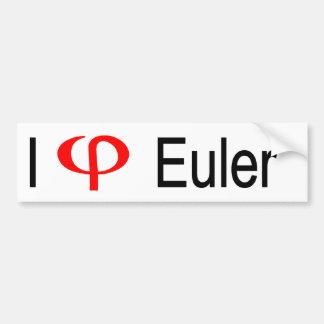 I heart Euler Bumper Sticker