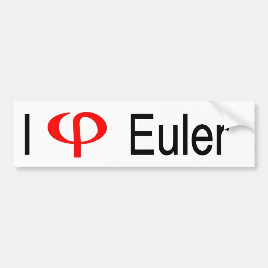 I heart Euler Bumper Sticker
