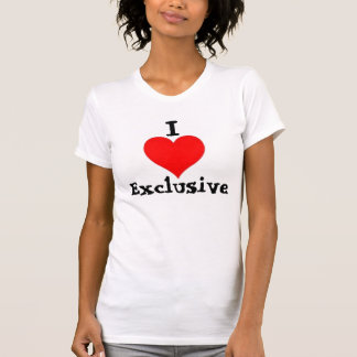 I Heart Exclusive (white tee) T-Shirt