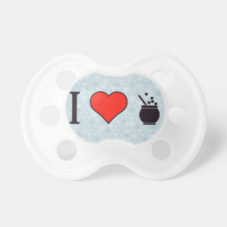 I Heart Exotic Coffee Baby Pacifier