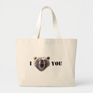 I Heart-Face-Bear You Large Tote Bag