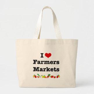 I Heart Farmers Markets Large Tote Bag