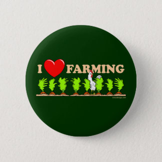 I Heart Farming 2 Inch Round Button
