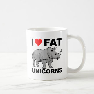 I Heart Fat Unicorn Rhino Funny Mug