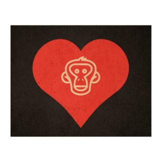 I Heart Feeding Monkeys Icon Cork Paper