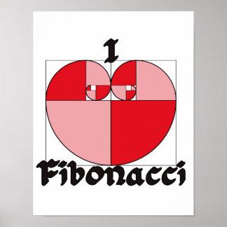 I heart Fibonacci Posters