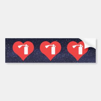 I Heart Fire Extinguishers Icon Bumper Sticker