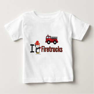 I Heart Firetrucks Baby T-Shirt