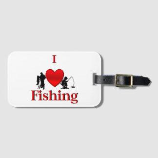 I Heart Fishing Luggage Tag