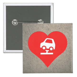 I Heart Fixing Cars Vector 2 Inch Square Button