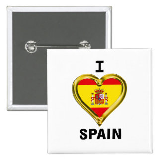 I Heart Flag Spain Pinback Button