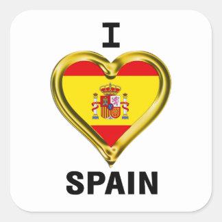 I Heart Flag Spain Sticker