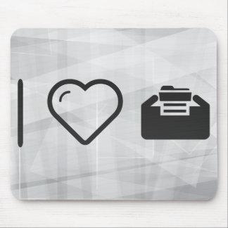 I Heart Folder Inserts Mouse Pad