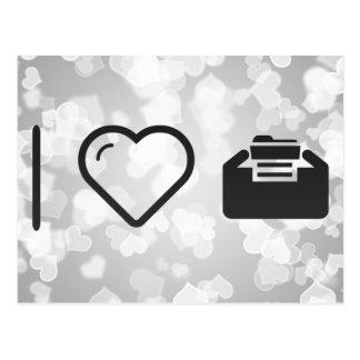 I Heart Folder Inserts Postcard