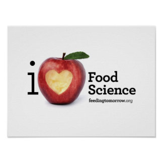 """""""I Heart Food Science"""" Poster"""