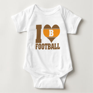 I heart football infant creeper