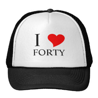 I Heart FORTY Mesh Hat