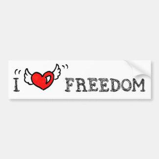 I Heart Freedom bumper sticker