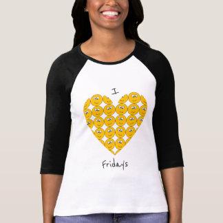 "I ""Heart"" Fridays with Smiling Emojis T-Shirt"