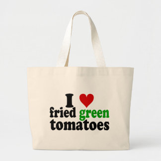 I Heart Fried Green Tomatoes Large Tote Bag