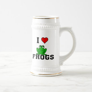 I Heart Frogs Beer Stein