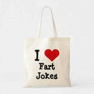 I heart funny Fart Jokes Budget Tote Bag